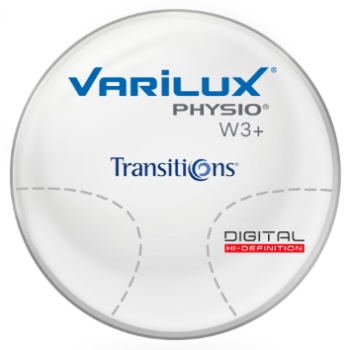 Varilux Varilux Physio W3+ Transitions® SIGNATURE 8 [Grey, Brown, or Green] Polycarbonate Progressive Lenses