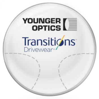 Younger Optics Transitions DriveWear® by Younger Optics - Polarized Photochromic - Plastic CR-39 Progressive Lenses