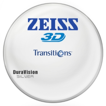 Zeiss Zeiss® 3D Transitions® SIGNATURE VII [Gray or Brown] Polycarbonate W/ Zeiss DuraVision Silver AR Lenses