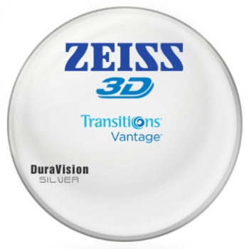 Zeiss Zeiss® 3D Transitions® Vantage™ Polycarbonate Polarizing [Gray] W/ Zeiss DuraVision Silver AR Lenses