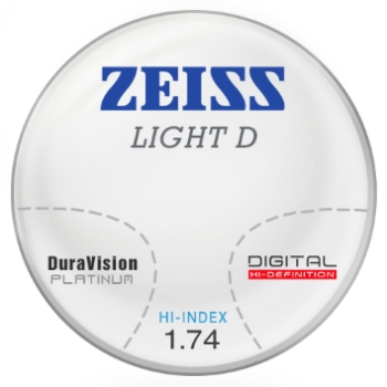 Zeiss Zeiss Light D Digital 1.74 Hi-Index W/ DuraVision Platinum AR Progressive Lenses