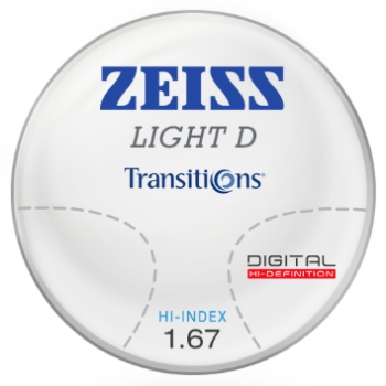 Zeiss Zeiss Light D Digital Transitions® SIGNATURE 8 (Gray or Brown) 1.67 Hi-Index Progressive Lenses