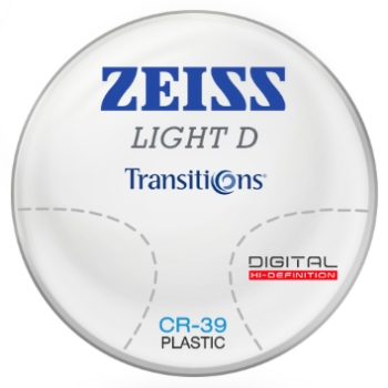 Zeiss Zeiss Light D Digital Transitions® SIGNATURE 8 (Gray or Brown) CR-39 Progressive Lenses