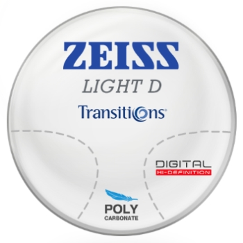 Zeiss Zeiss Light D Digital Transitions® SIGNATURE 8 (Gray or Brown) Polycarbonate Progressive Lenses