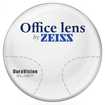 Zeiss Zeiss® OfficeLens Computer Glasses Plastic CR-39 W/ Zeiss DuraVision Silver AR Lenses