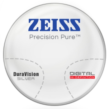Zeiss Zeiss® Precision Pure™ CR-39 Progressive W/ Zeiss DuraVision Silver AR Lenses