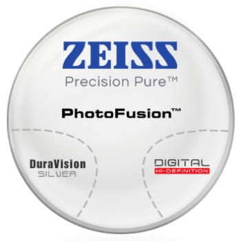 Zeiss Zeiss® Precision Pure™ PhotoFusion® [Gray or Brown] CR-39 W/ Zeiss DuraVision Silver AR Lenses