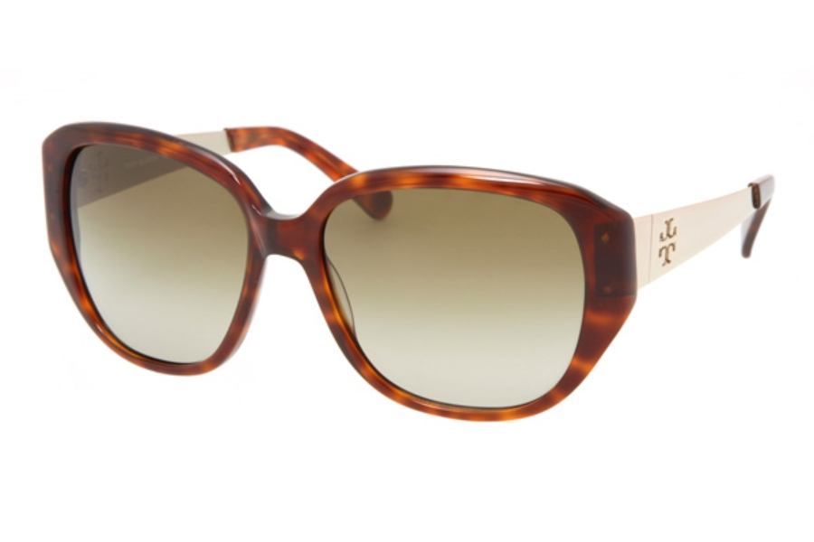 Tory Burch TY7014 Sunglasses in 502/13 Tortoise w/Brown Gradient Lenses