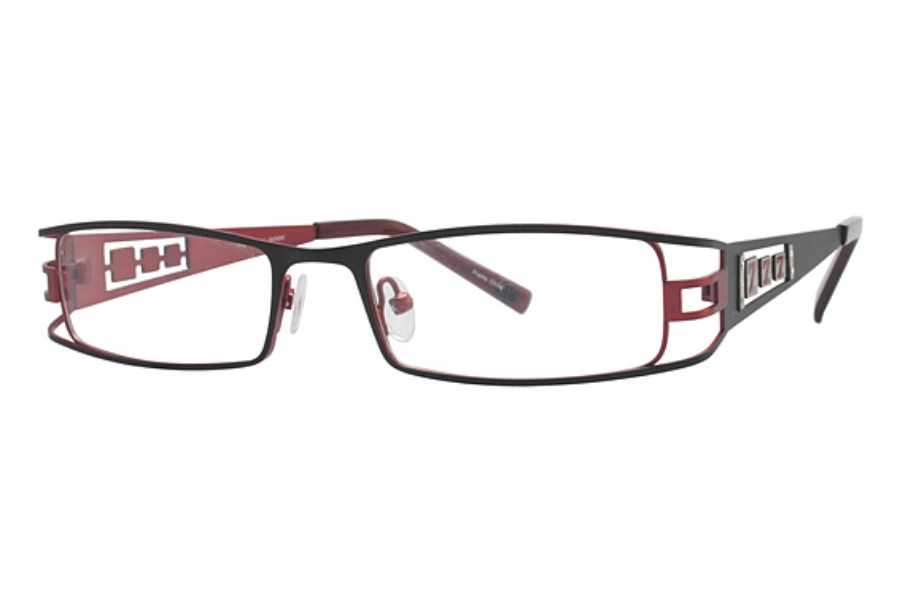 High Stakes Jackpot Eyeglasses in Black/Red