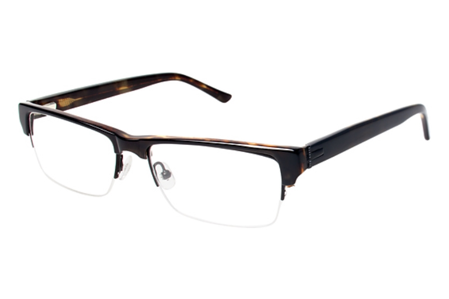 Ted Baker B867 Eyeglasses in BLK Black/Tortoise