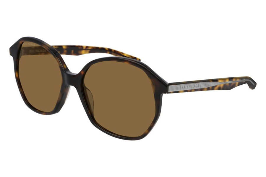 Balenciaga BB0005S Sunglasses in 002 Havana/Brown