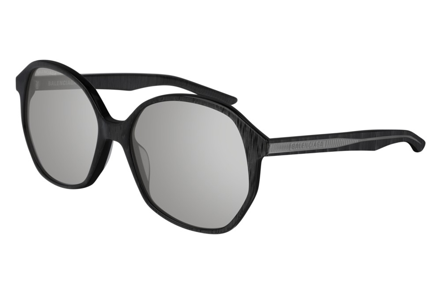 Balenciaga BB0005S Sunglasses in 004 Grey/Silver Mirror