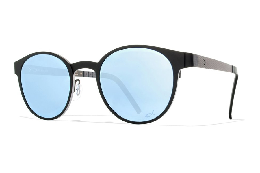 Blackfin Key West Sunglasses in 532 Black/Silver/Lblue