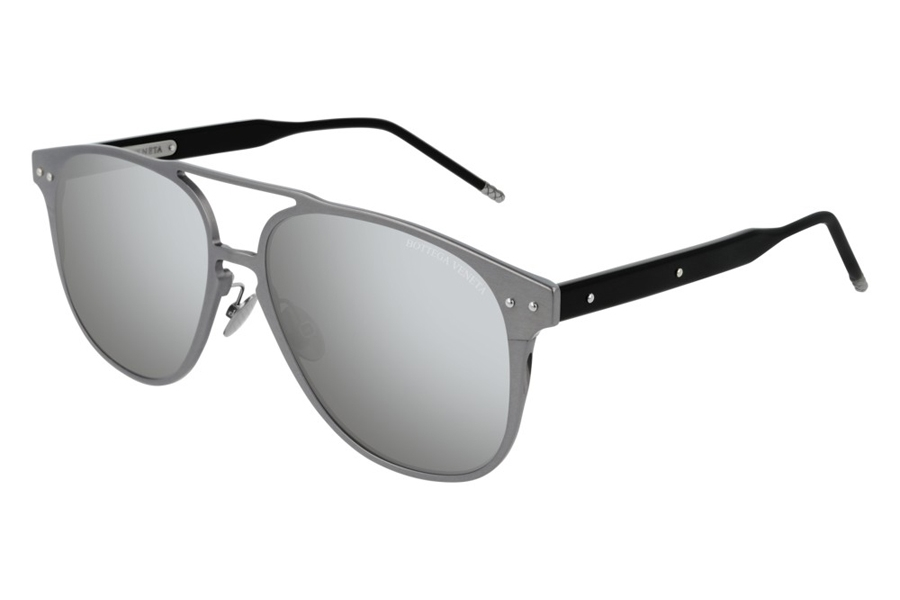 Bottega Veneta BV0212S Sunglasses in 004 Ruthenium Black/Silver Mirror