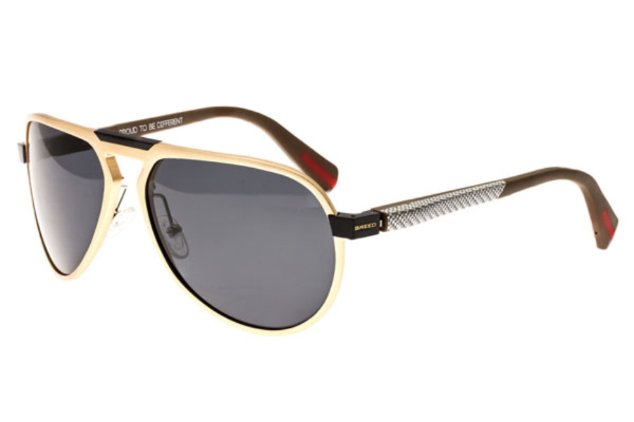 Breed Octans Sunglasses in 028GD Gold/Black