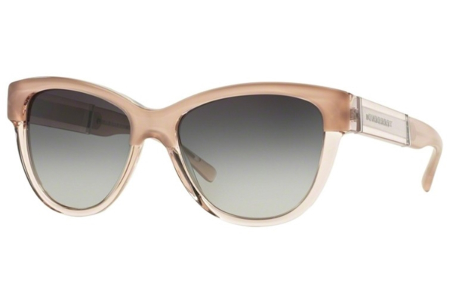 bb7292e774e6 ... Burberry BE4206 Sunglasses in 35608G Top Opal Nude On Nude - Grey  Gradient ...