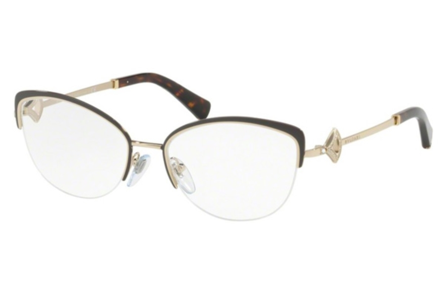 Bvlgari BV 2198B Eyeglasses in 2034 Brown/Pale Gold