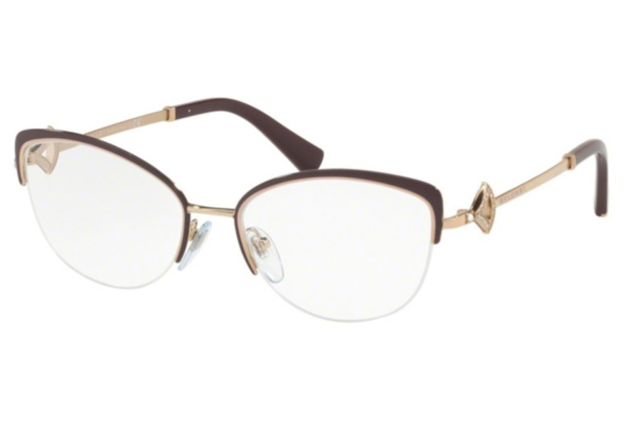 Bvlgari BV 2198B Eyeglasses in 2035 Plum/Pink Gold
