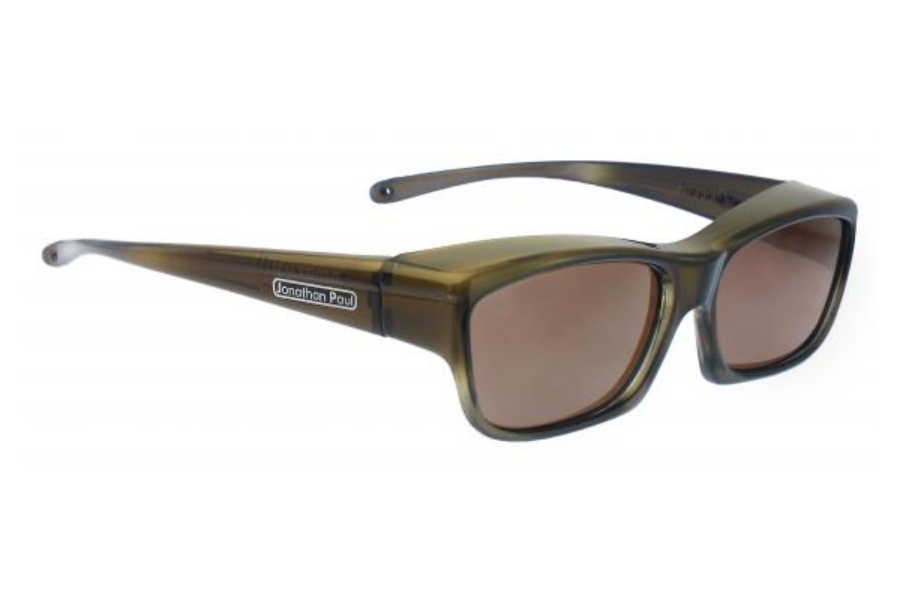 Fitovers Choopa Sunglasses in CH003A Choopa Olive Charcoal (Polarvue Amber)