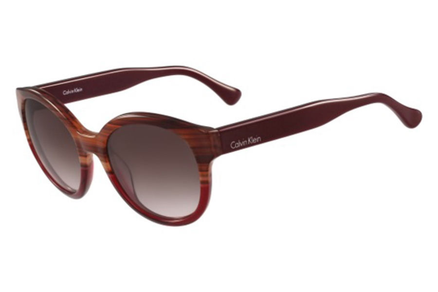 cK Calvin Klein ck4313S Sunglasses in 505 Striped Havana Red