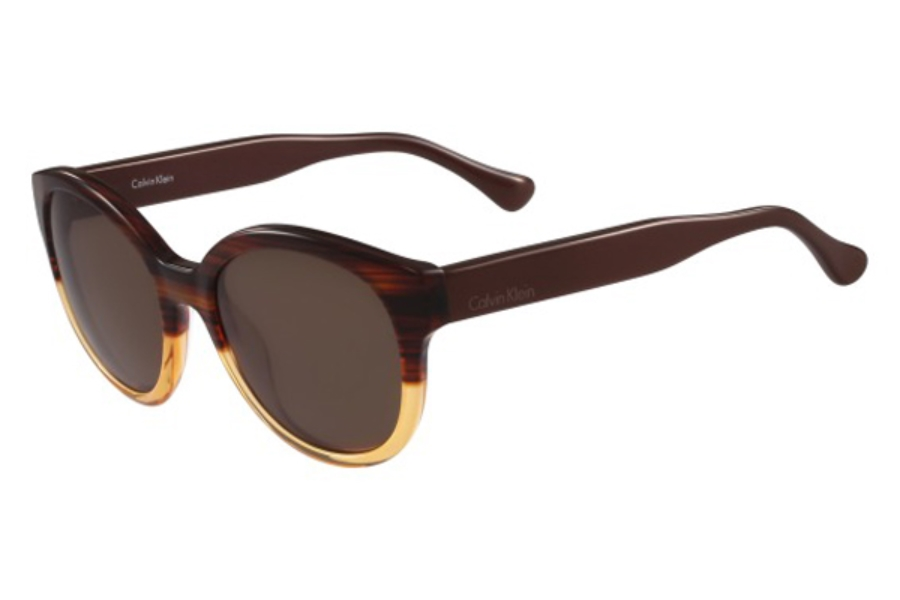 cK Calvin Klein ck4313S Sunglasses in 506 Striped Havana Orange