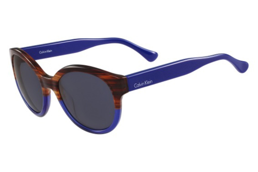 cK Calvin Klein ck4313S Sunglasses in 508 Striped Havana Blue