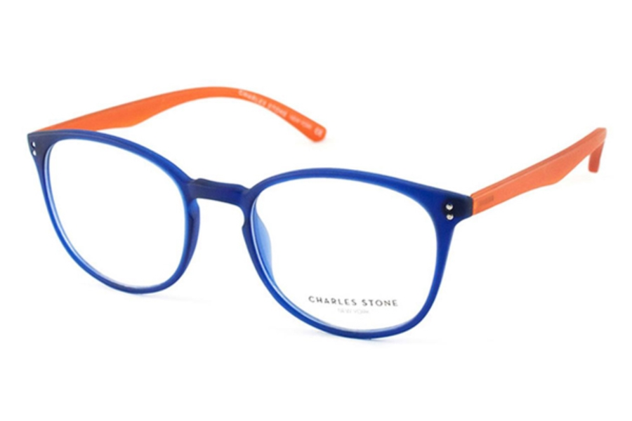 Charles Stone New York CSNY 65 Eyeglasses in Blue/Orange