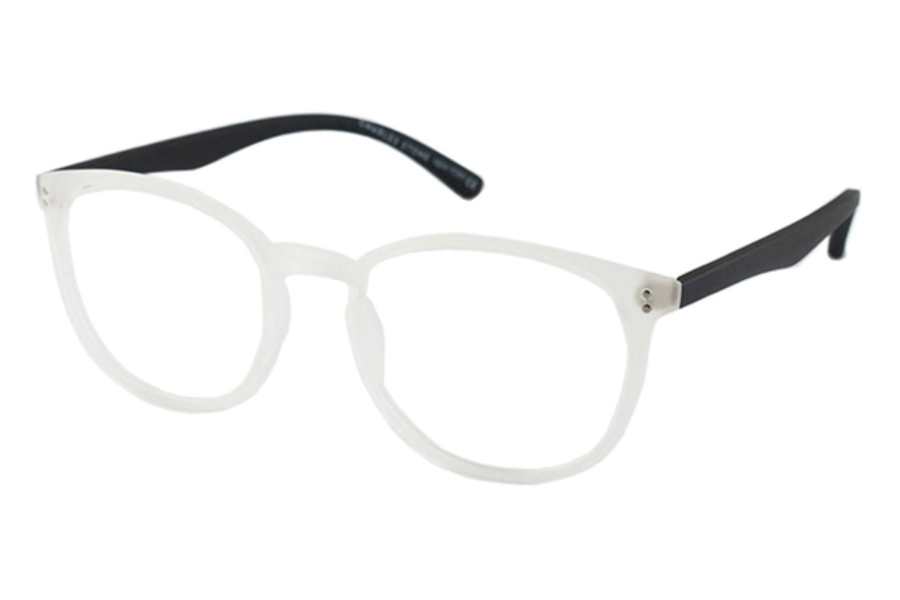 Charles Stone New York CSNY 65 Eyeglasses in Crystal/Black