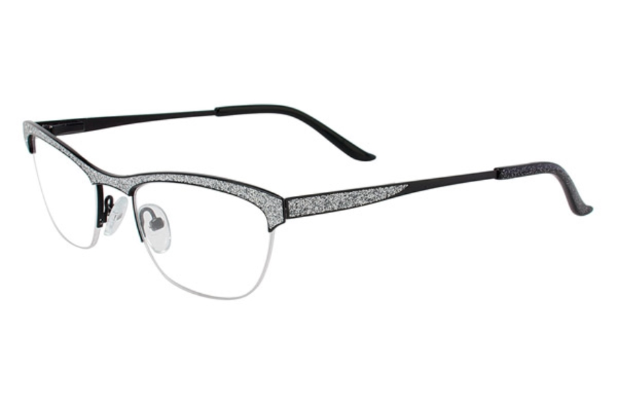 Cafe Boutique CB1001 Eyeglasses in C-2 Silver Glitter