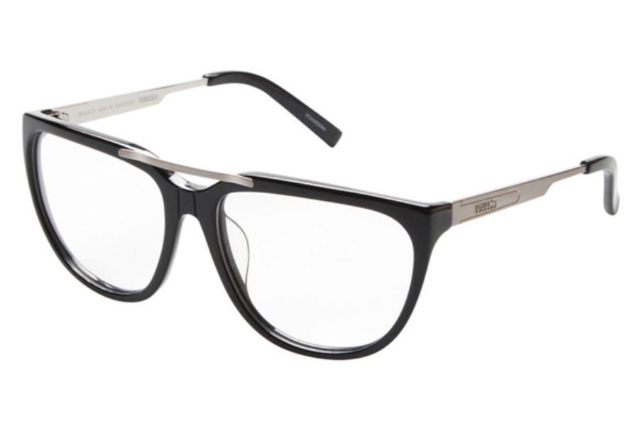 Cassius Aalto Black Eyeglasses in Black/Silver