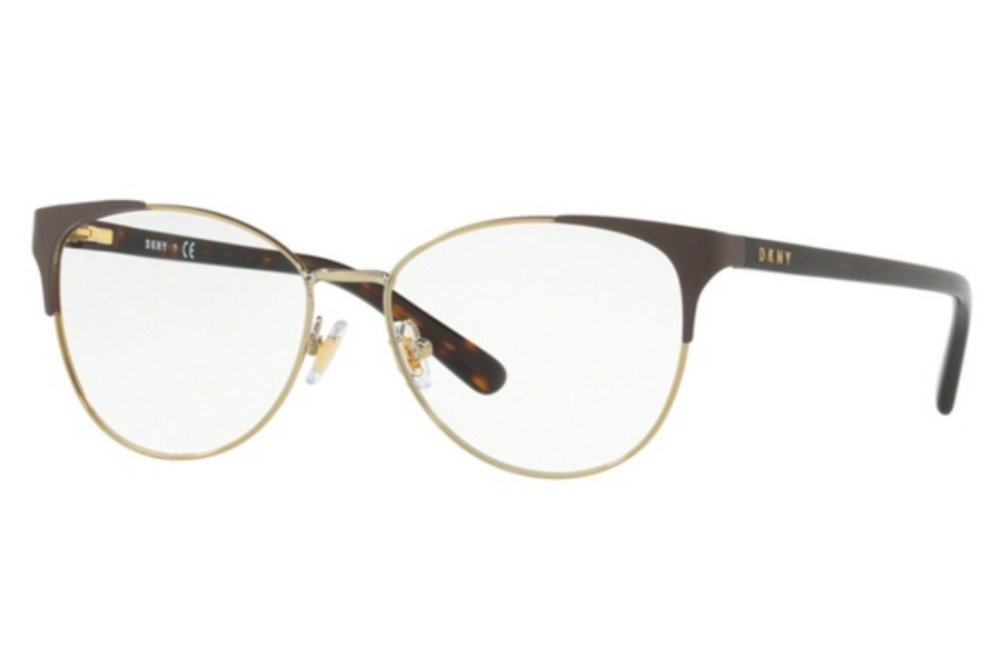 DKNY DY 5654 Eyeglasses in 1238 Brown Light Gold (Discontinued)