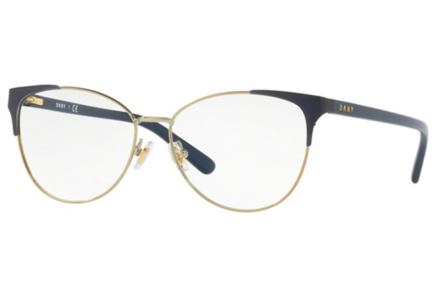 DKNY DY 5654 Eyeglasses in 1240 Navy Light Gold (54 Eyesize Only)