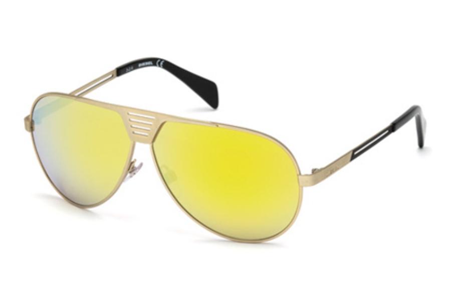 9acf970038 ... Diesel DL 0134 S Sunglasses in 28L Shiny Rose Gold Roviex Mirror ...