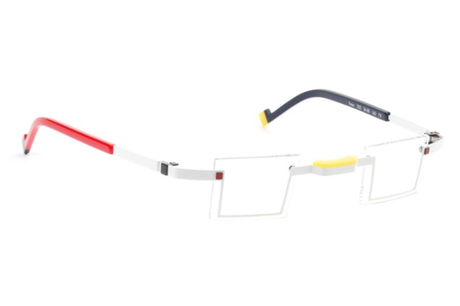 De Stijl Peter S15 Eyeglasses in 1510 White/ Blue/ Red/ Yellow