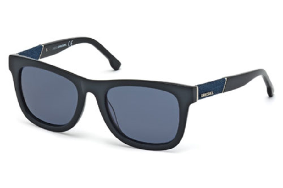 Diesel DL 0050/S MADISON Sunglasses in 01V Shiny Black/Blue (Discontinued)