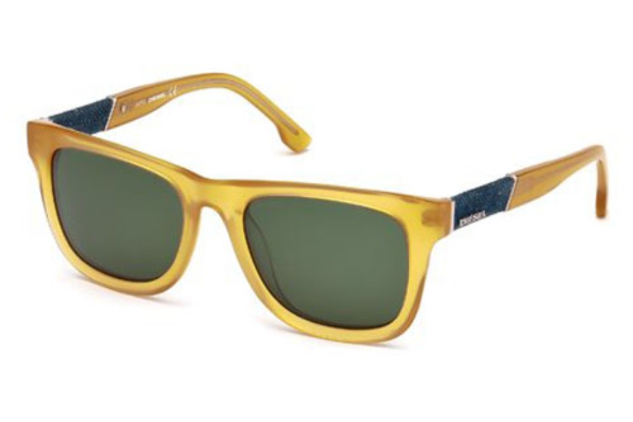Diesel DL 0050/S MADISON Sunglasses in 39N Shiny Yellow / Green