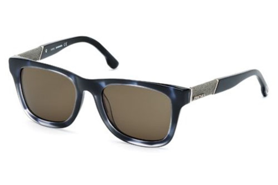 Diesel DL 0050/S MADISON Sunglasses in 55A Coloured Havana / Smoke