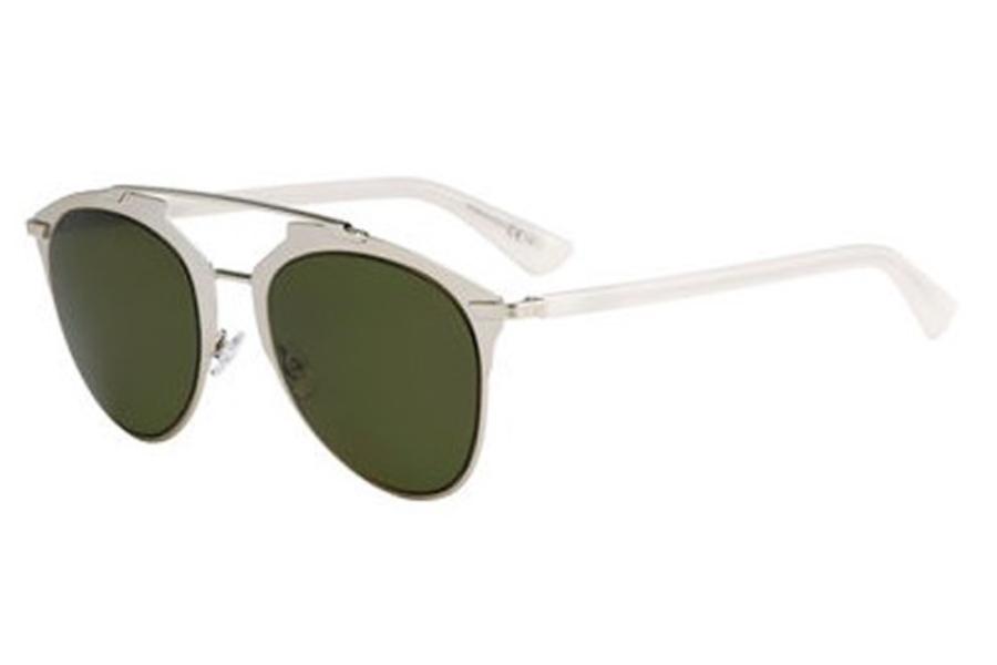 2f34806c9e6a7 ... Christian Dior Diorreflected Sunglasses in 0TUP Gold White (1E green  lens) ...