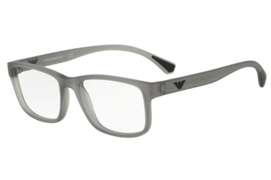 39d3649792e3 ... Black; Emporio Armani EA3089 Eyeglasses in 5532 Matte Transparent Grey  ...