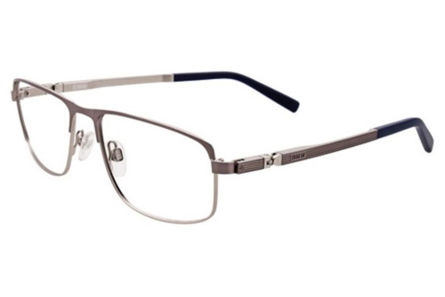 BMW B6016 Eyeglasses in 20 Dark Steel And Silver/Blue