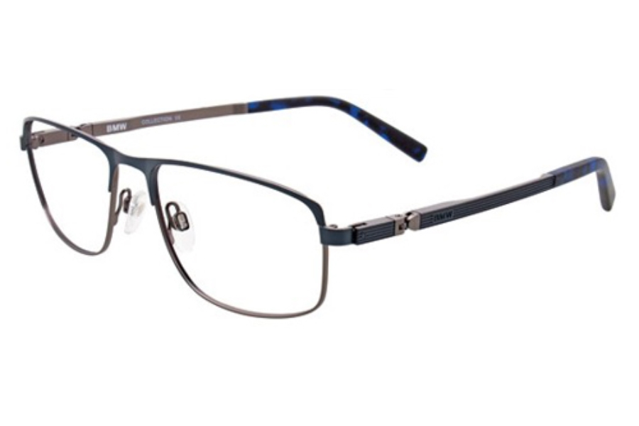 BMW B6016 Eyeglasses in 50 Satin Dark Navy And Grey