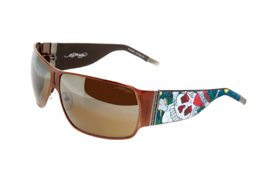 Ed Hardy EHS 012 Love Kills Slowly Sunglasses in Cocoa / Brown (COCO)