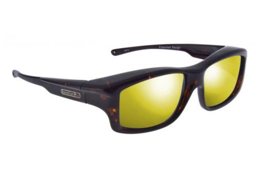 Fitovers Yamba Sunglasses in YM003YM Dark Tortoise Shell w/ Polycarbonate Gold Mirror Lenses