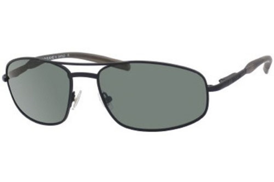 Fossil JUMPER/S (Flex Hinge) Sunglasses in 0C1K  Matte Black w/Green Polarized Lenses - (0C1K/RC)