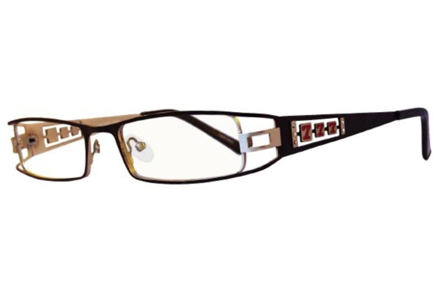 High Stakes Jackpot Eyeglasses in Black/Silver
