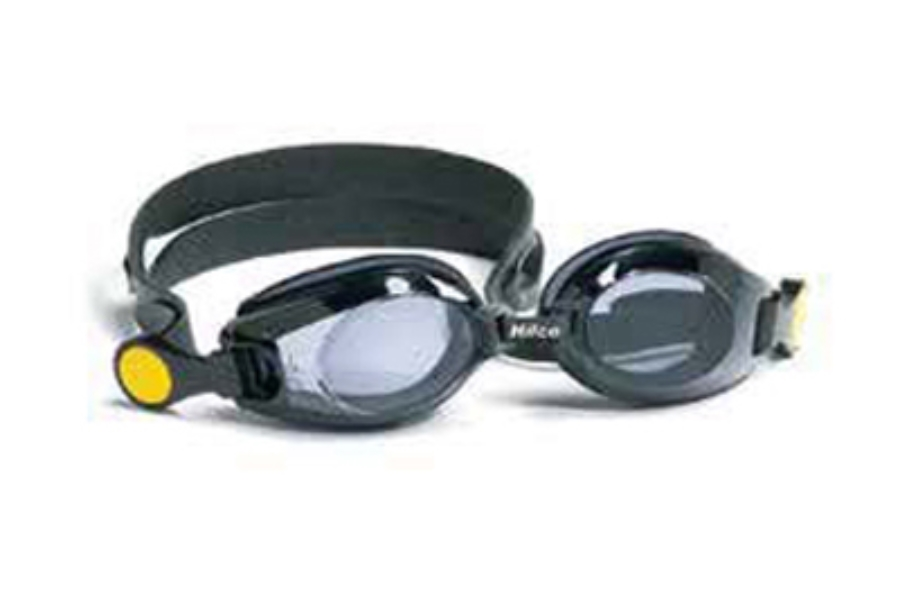 Hilco Leader Sports Vantage Kids Complete Swim Goggle with Minus Lens Power Goggles in 333300400 Black -4.00