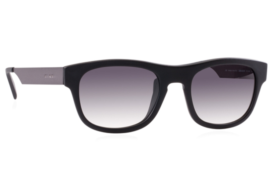 Italia Independent 0080 Sunglasses in 009 Black / Grey / Shaded