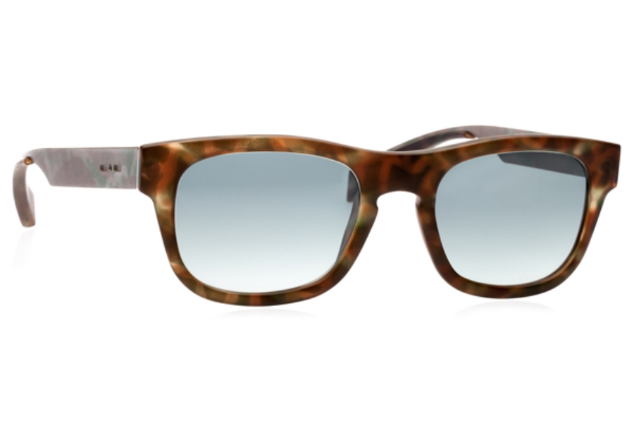 Italia Independent 0080 Sunglasses in 035 Havana Green / Green / Shaded