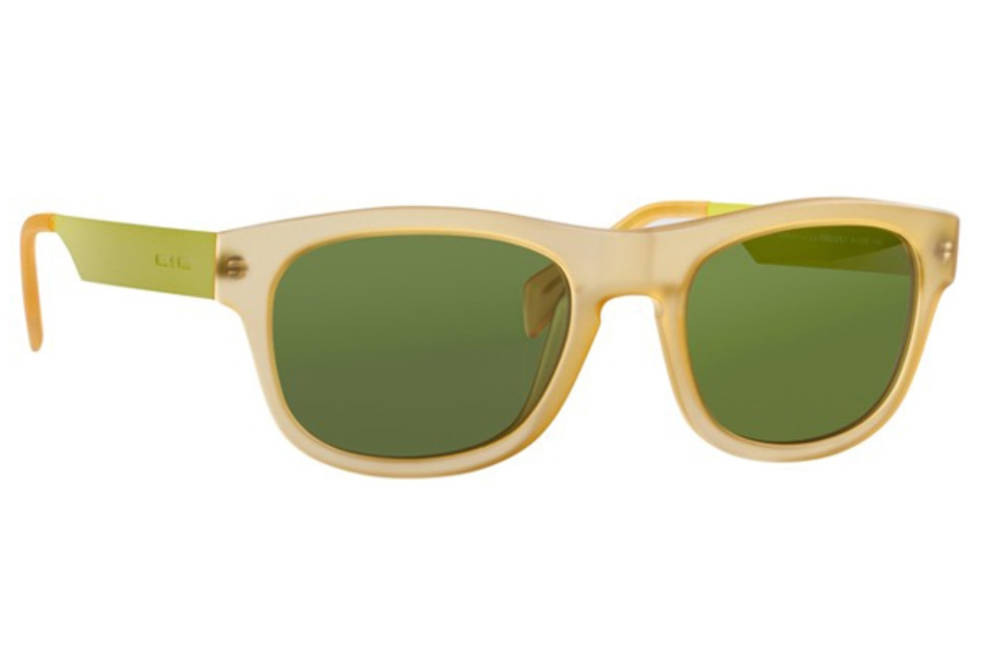 Italia Independent 0080 Sunglasses in 061 Yellow / Grey / Shaded