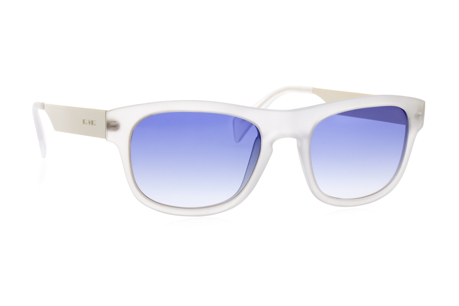 Italia Independent 0080 Sunglasses in 001 White / Blue/shaded